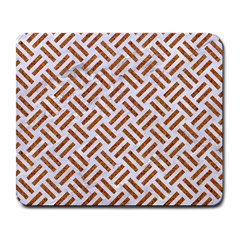 Woven2 White Marble & Rusted Metal (r) Large Mousepads by trendistuff
