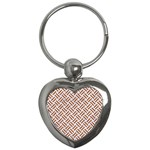 WOVEN2 WHITE MARBLE & RUSTED METAL (R) Key Chains (Heart)  Front