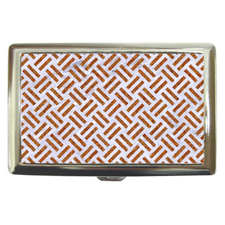 WOVEN2 WHITE MARBLE & RUSTED METAL (R) Cigarette Money Cases