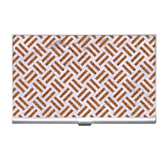 WOVEN2 WHITE MARBLE & RUSTED METAL (R) Business Card Holders