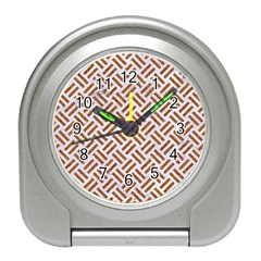 WOVEN2 WHITE MARBLE & RUSTED METAL (R) Travel Alarm Clocks