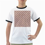 WOVEN2 WHITE MARBLE & RUSTED METAL (R) Ringer T-Shirts Front