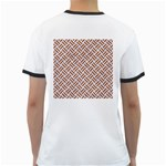 WOVEN2 WHITE MARBLE & RUSTED METAL (R) Ringer T-Shirts Back