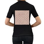 WOVEN2 WHITE MARBLE & RUSTED METAL (R) Women s T-Shirt (Black) (Two Sided) Back