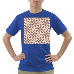 WOVEN2 WHITE MARBLE & RUSTED METAL (R) Dark T-Shirt