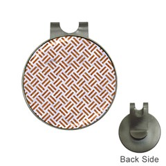 WOVEN2 WHITE MARBLE & RUSTED METAL (R) Hat Clips with Golf Markers