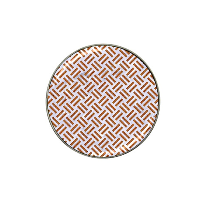 WOVEN2 WHITE MARBLE & RUSTED METAL (R) Hat Clip Ball Marker (4 pack)