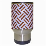 WOVEN2 WHITE MARBLE & RUSTED METAL (R) Travel Mugs (White) Center
