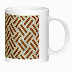 WOVEN2 WHITE MARBLE & RUSTED METAL (R) Night Luminous Mugs Right