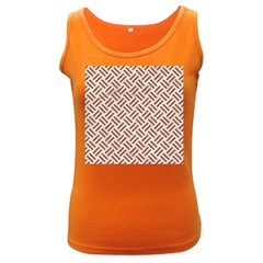 Woven2 White Marble & Rusted Metal (r) Women s Dark Tank Top