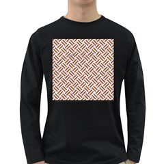 WOVEN2 WHITE MARBLE & RUSTED METAL (R) Long Sleeve Dark T-Shirts