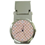 WOVEN2 WHITE MARBLE & RUSTED METAL (R) Money Clip Watches Front
