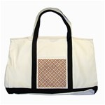WOVEN2 WHITE MARBLE & RUSTED METAL (R) Two Tone Tote Bag Front