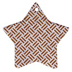 WOVEN2 WHITE MARBLE & RUSTED METAL (R) Star Ornament (Two Sides) Back
