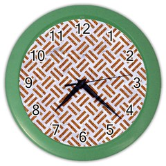 WOVEN2 WHITE MARBLE & RUSTED METAL (R) Color Wall Clocks
