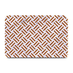 WOVEN2 WHITE MARBLE & RUSTED METAL (R) Plate Mats