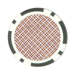 WOVEN2 WHITE MARBLE & RUSTED METAL (R) Poker Chip Card Guard