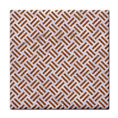 Woven2 White Marble & Rusted Metal (r) Face Towel by trendistuff