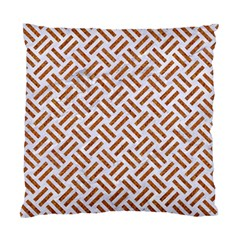 WOVEN2 WHITE MARBLE & RUSTED METAL (R) Standard Cushion Case (Two Sides)