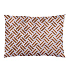WOVEN2 WHITE MARBLE & RUSTED METAL (R) Pillow Case