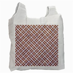 WOVEN2 WHITE MARBLE & RUSTED METAL (R) Recycle Bag (Two Side)