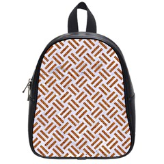 WOVEN2 WHITE MARBLE & RUSTED METAL (R) School Bag (Small)