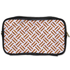 Woven2 White Marble & Rusted Metal (r) Toiletries Bags 2 Side by trendistuff