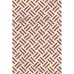 WOVEN2 WHITE MARBLE & RUSTED METAL (R) 5.5  x 8.5  Notebooks Front Cover