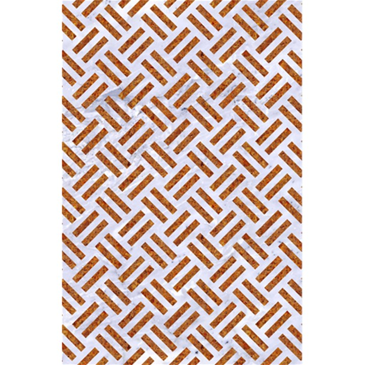 WOVEN2 WHITE MARBLE & RUSTED METAL (R) 5.5  x 8.5  Notebooks