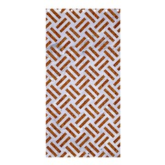 WOVEN2 WHITE MARBLE & RUSTED METAL (R) Shower Curtain 36  x 72  (Stall)