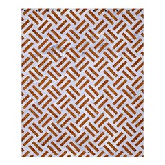 WOVEN2 WHITE MARBLE & RUSTED METAL (R) Shower Curtain 60  x 72  (Medium)