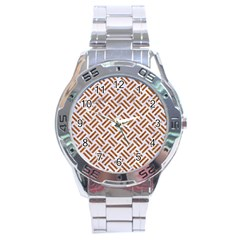 WOVEN2 WHITE MARBLE & RUSTED METAL (R) Stainless Steel Analogue Watch