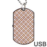 WOVEN2 WHITE MARBLE & RUSTED METAL (R) Dog Tag USB Flash (Two Sides) Front