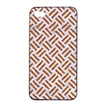 WOVEN2 WHITE MARBLE & RUSTED METAL (R) Apple iPhone 4/4s Seamless Case (Black) Front