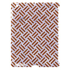 Woven2 White Marble & Rusted Metal (r) Apple Ipad 3/4 Hardshell Case (compatible With Smart Cover) by trendistuff