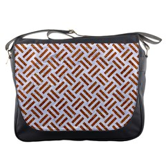 WOVEN2 WHITE MARBLE & RUSTED METAL (R) Messenger Bags