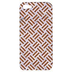 WOVEN2 WHITE MARBLE & RUSTED METAL (R) Apple iPhone 5 Hardshell Case