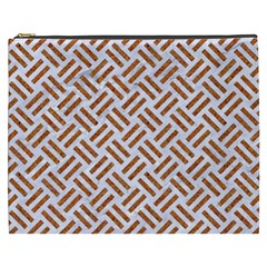 WOVEN2 WHITE MARBLE & RUSTED METAL (R) Cosmetic Bag (XXXL)