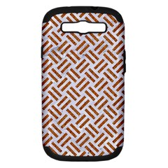 WOVEN2 WHITE MARBLE & RUSTED METAL (R) Samsung Galaxy S III Hardshell Case (PC+Silicone)