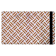 Woven2 White Marble & Rusted Metal (r) Apple Ipad 3/4 Flip Case