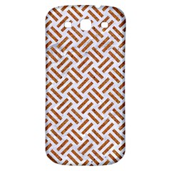 Woven2 White Marble & Rusted Metal (r) Samsung Galaxy S3 S Iii Classic Hardshell Back Case