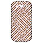 WOVEN2 WHITE MARBLE & RUSTED METAL (R) Samsung Galaxy S3 S III Classic Hardshell Back Case Front