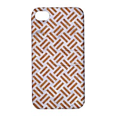 WOVEN2 WHITE MARBLE & RUSTED METAL (R) Apple iPhone 4/4S Hardshell Case with Stand