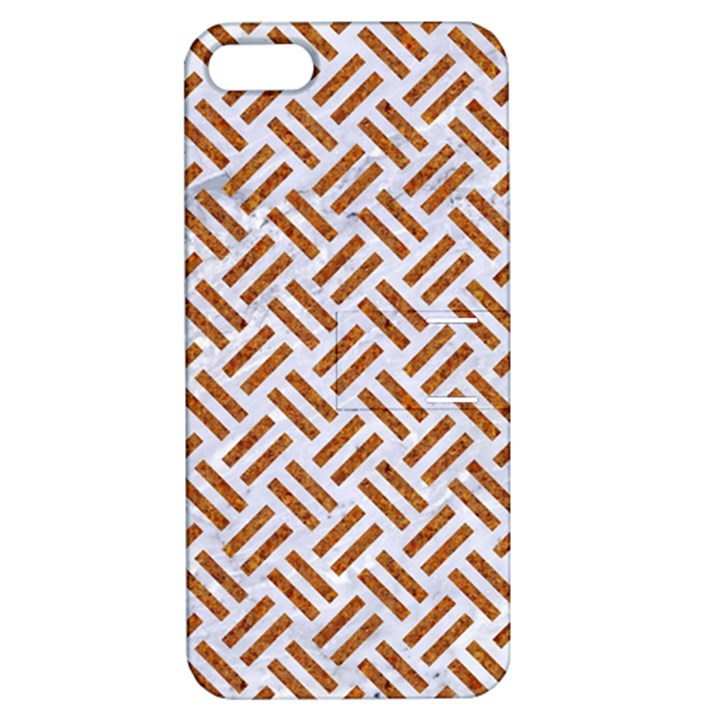 WOVEN2 WHITE MARBLE & RUSTED METAL (R) Apple iPhone 5 Hardshell Case with Stand