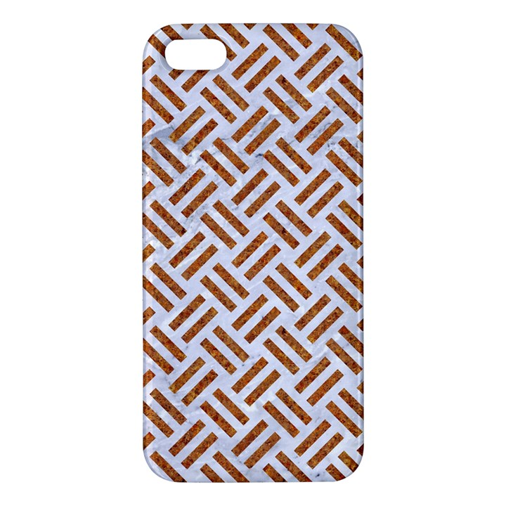 WOVEN2 WHITE MARBLE & RUSTED METAL (R) Apple iPhone 5 Premium Hardshell Case