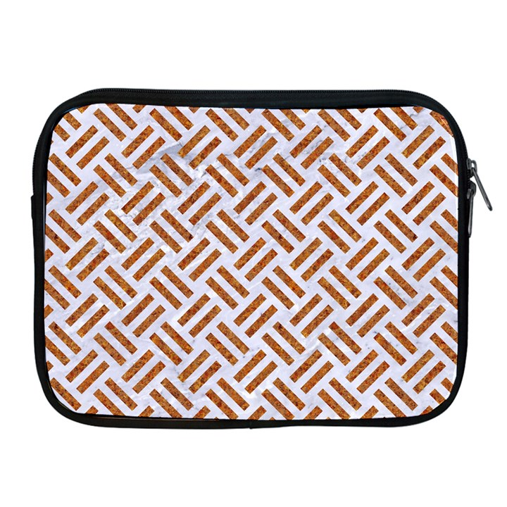 WOVEN2 WHITE MARBLE & RUSTED METAL (R) Apple iPad 2/3/4 Zipper Cases