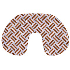 WOVEN2 WHITE MARBLE & RUSTED METAL (R) Travel Neck Pillows