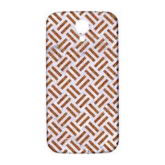 WOVEN2 WHITE MARBLE & RUSTED METAL (R) Samsung Galaxy S4 I9500/I9505  Hardshell Back Case