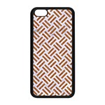 WOVEN2 WHITE MARBLE & RUSTED METAL (R) Apple iPhone 5C Seamless Case (Black) Front