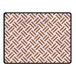 WOVEN2 WHITE MARBLE & RUSTED METAL (R) Double Sided Fleece Blanket (Small)  45 x34 Blanket Back